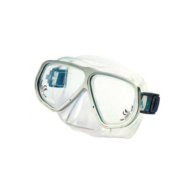Panorama maske med monteret styrkeglas