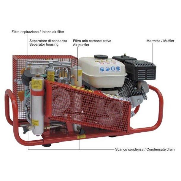 Coltri Sub KOMPRESSOR MCH6/SH 100 L  5,5 HP HONDA