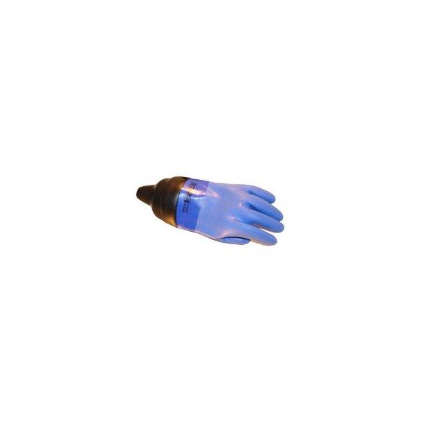 Santi blå tørhandsker med manchet